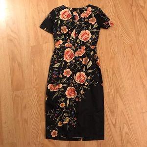 ASOS Mini Tight Floral Dress